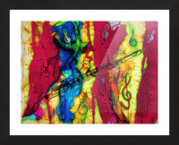 Flute Electrified Picture Frame print