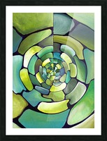 Art Deco_Green _Pattern_displate Picture Frame print