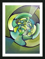 Art Deco_Green _Pattern_A Picture Frame print