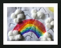 Nola rainbow Picture Frame print