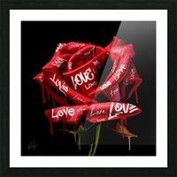 Graffiti Rose Picture Frame print