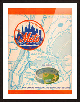 1967 new york mets vintage baseball scorecard poster wall art Picture Frame print