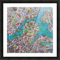 imaginary map of Boston Impression et Cadre photo