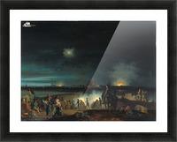 De beschieting van's Hertogenbosch door de Fransen tijdens het beleg van 1794 Picture Frame print