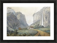 The Staubbach Falls by Lauterbrunnen in the Swiss Alps Picture Frame print