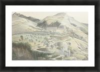 Landschap met klooster bij Subiaco Picture Frame print