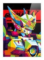 Wings Gundam Zero Pop Art Picture Frame print