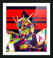 Rx-93 v Gundam NU Gundam Picture Frame print
