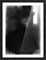 Lady with a hat and Cape by Klimt Picture Frame print