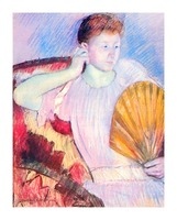 Lady with Fan by Cassatt Picture Frame print