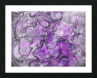 Purple Marble Picture Frame print