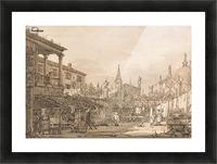 Capriccio of a Venetian Courtyard Picture Frame print