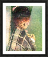 Lady with veil by Renoir Picture Frame print