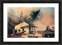 Lagoon landscape by Canaletto Picture Frame print