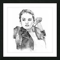 Selena Gomez - Celebrity Pencil Art Impression et Cadre photo