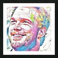 Chris Pratt - Celebrity Abstract Art Impression et Cadre photo
