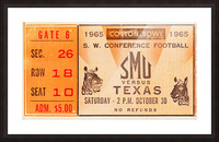 1965 texas longhorns smu mustangs college football Picture Frame print