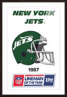 1987 new york jets vintage nfl poster Picture Frame print