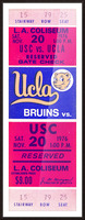 1976 college football usc ucla ticket stub Picture Frame print