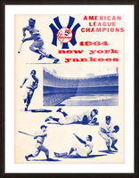1964 new york yankees american league champions poster Picture Frame print