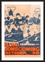 1920 illinois illini football homecoming art Picture Frame print