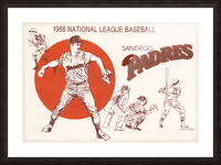 1988 san diego padres vintage poster Picture Frame print