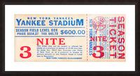 vintage yankees ticket stub metal sign Picture Frame print