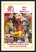 1988 usc football poster heisman candidate rodney peete Picture Frame print