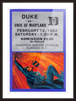 1983 duke basketball cameron indoor stadium ticket poster Picture Frame print
