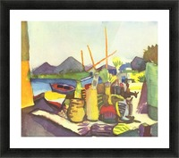Landscape at Hammamet by Macke Picture Frame print