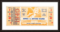 1940 notre dame football art Picture Frame print