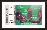 1978 notre dame football ticket stub prints Picture Frame print