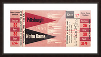 1950 pittsburgh notre dame vintage college football ticket wall art Picture Frame print