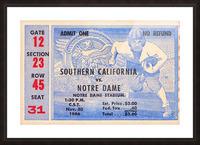 1946 notre dame southern california ticket stub framed prints Picture Frame print