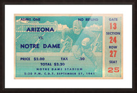 1941 arizona notre dame football frank leahy first game Picture Frame print