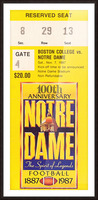 1987 notre dame football Picture Frame print