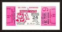 1973 cal state northridge fresno state bulldogs Picture Frame print