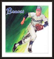 1969 atlanta braves art Picture Frame print