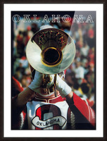 1983 pride of oklahoma retro college marching band poster Picture Frame print