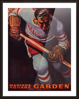 1950 new york rangers nhl hockey madison square garden poster Picture Frame print