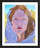 Beautiful blonde woman under a hard sun - Modern, Realism, Figurative, Portraiture, Acrylic  series Picture Frame print