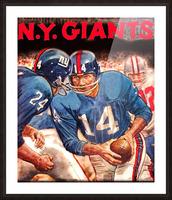 vintage new york giants nfl art poster Picture Frame print