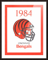 1984 cincinnati bengals retro helmet poster Picture Frame print