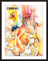 1980 arizona state university asu sun devils college basketball poster Picture Frame print