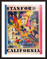 1928 cal stanford football program cover artwork for walls Picture Frame print