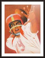 artist lon keller quarterback football program cover art Picture Frame print