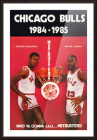 1984 chicago bulls michael jordan who ya gonna call netbusters poster Picture Frame print
