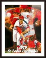 1979 st louis cardinals retro baseball poster Picture Frame print