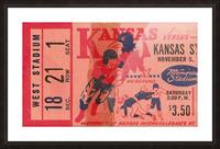 1955 university of kansas jayhawks super vintage college football art Picture Frame print