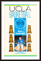 1970 ucla bruins basketball john wooden poster ncaa champions Picture Frame print